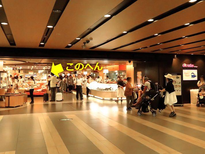 東京れんがパンのある売り場の場所